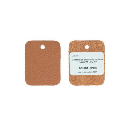 Échantillon de cuir de vachette GRANITE - FAUVE