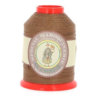 Fil Spécial Maroquinerie polyester coton - 28/4 - 0,52 mm - MARRON