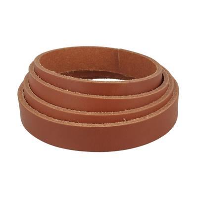Lanière de cuir de collet - COGNAC - Larg 19 mm - Long 110 cm