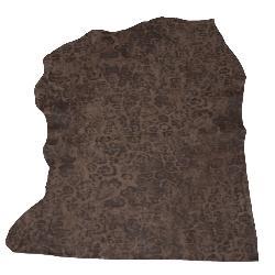 Peau de cuir de veau - MARRON imprimé CAMOUFLAGE B25