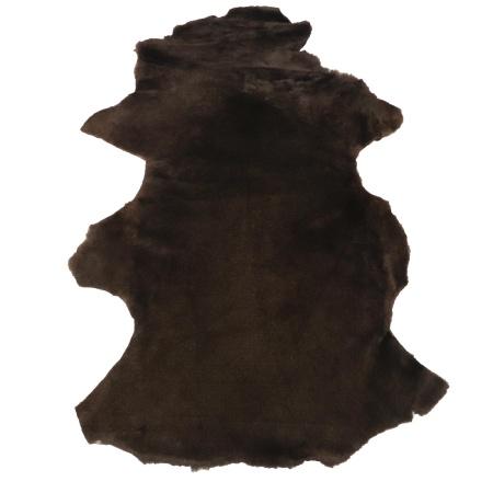 Peau de mouton lainé lisse - Dos velours - CHOCOLAT C19