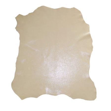 Peau de cuir de chèvre velours effet nacré - BEIGE C59
