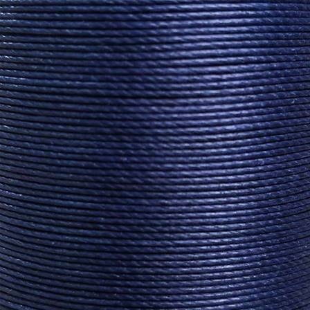 Bobine de 50m de fil de lin ciré MeiSi super fine M60 - 0,65 mm - BLEU MARINE - MS019
