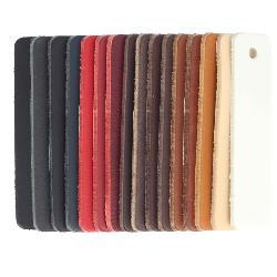 Nuancier de lanière de cuir de collet - 16 échantillons - Ép 3,4 mm