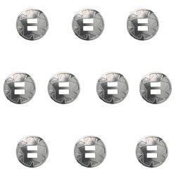 10 Conchos à lacer  ETOILE - 25 mm - Nickelé