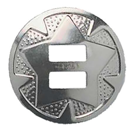 10 Conchos à lacer  ETOILE - 32 mm - Nickelé
