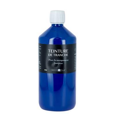 Finition de tranche BLEU MAT pour cuir - Deco Cuir - 1 litre