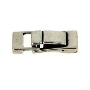 Fermoir bijou - Fermeture clip - Argent vieilli - Lanière 10 mm