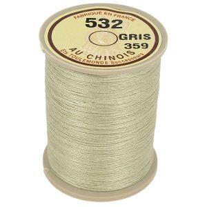 Bobine fil de lin au chinois câblé glacé - 532 - GRIS 359