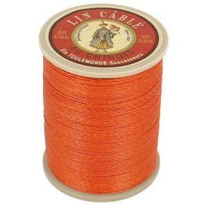 Bobine fil de lin au chinois câblé glacé - 332 - ORANGE 419