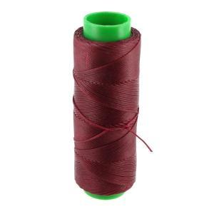 Bobine de fil polyester tressé et ciré - 100 mètres - diam 1 mm - BORDEAUX