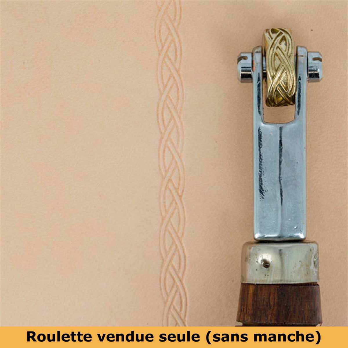 Roulette d'embossage 8091-13 montée sur manche