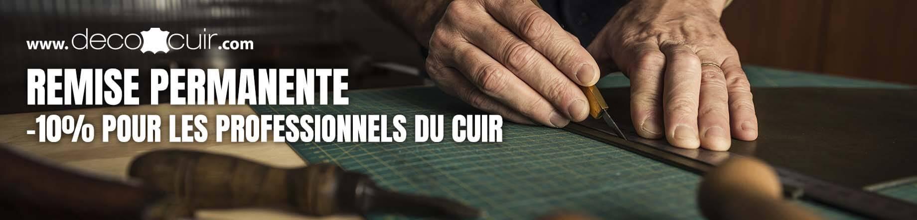 remise professionnel travail du cuir