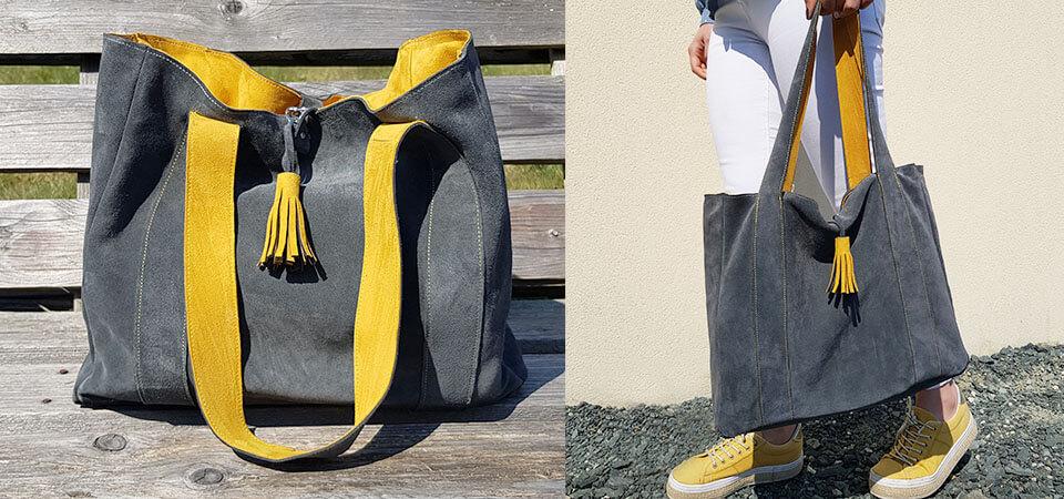 Tutoriel - Coudre son sac cabas en cuir avec doublure