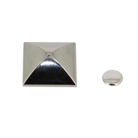 Pied de sac à riveter PYRAMIDE - NICKELÉ - 24 mm
