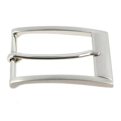 Boucle de ceinture LEO - NICKEL FREE SATINÉ - 35 mm