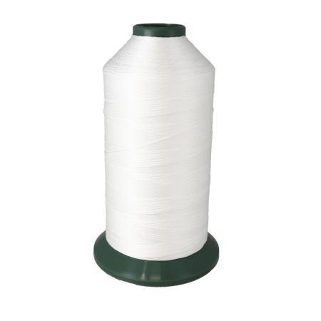 Bobine de fil polyester retors N° 20 - 1500 mètres - Blanc