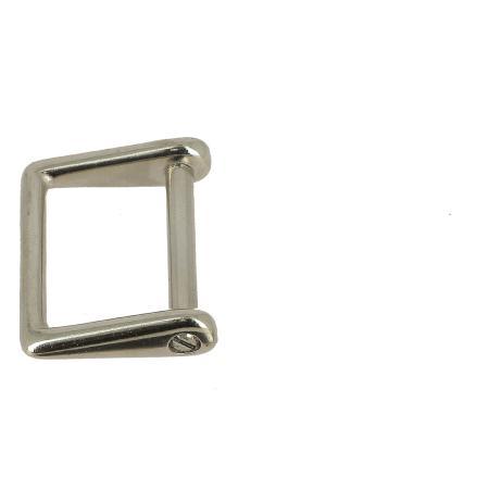 Attache à visser rectangulaire - NICKELÉ - 25 mm