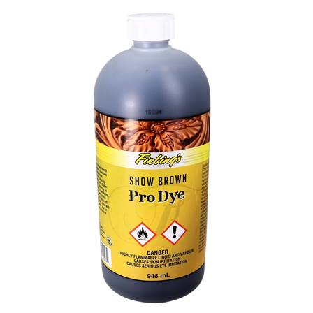 Teinture à l'huile - FIEBING'S Professionnal OIL DYE / PRO DYE - BRUN VIEILLI - SHOW BROWN - 946ml