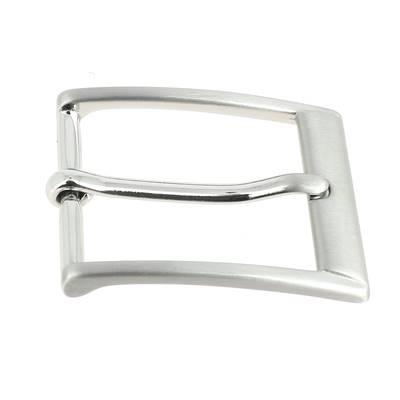 Boucle de ceinture LEO - NICKEL FREE SATINÉ - 30 mm