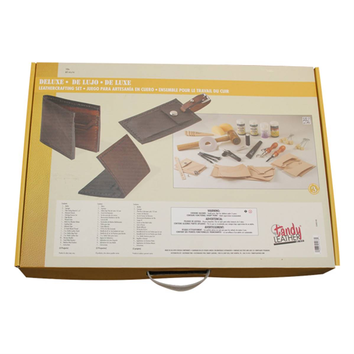 """Kit complet """"DELUXE LEATHERCRAFTING"""" - 55403"""