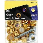 Kit Oeillets à rouler et outil de pose - 8 mm - DORE
