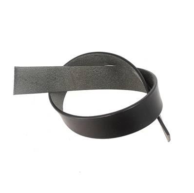 Sangle - Lanière de collet végétal NOIR - Tranches Noir - 70x3 cm - Ép 3,5 mm