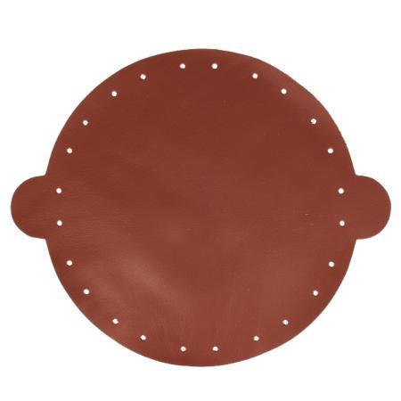 Cuir déja coupé pour faire une bourse en cuir MARRON - Diamètre 25 cm