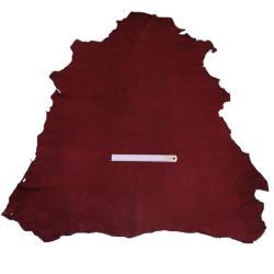Peau de cuir d'agneau velours - BORDEAUX 937 - 2'choix