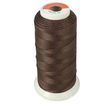 Bobine de fil polyester N°8 - 200 m - Marron Foncé