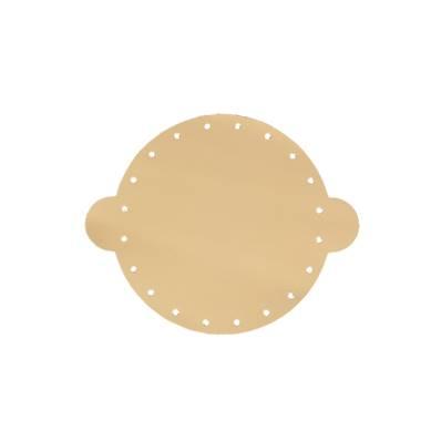 Cuir déja coupé pour faire une bourse en cuir BEIGE - Diamètre 14,5 cm