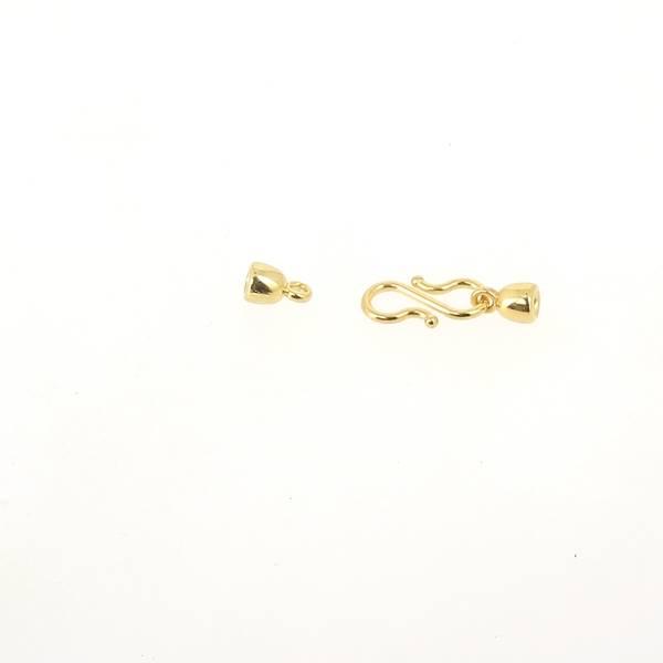 Fermoir bijou SONIA - Doré - Lacet rond 3 mm
