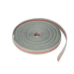 Ruban galon polyester GRIS et ROUGE - Largeur 10 mm - 25 mètres
