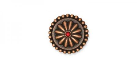 Concho GENEVRIER - 13 mm - Vieux cuivre