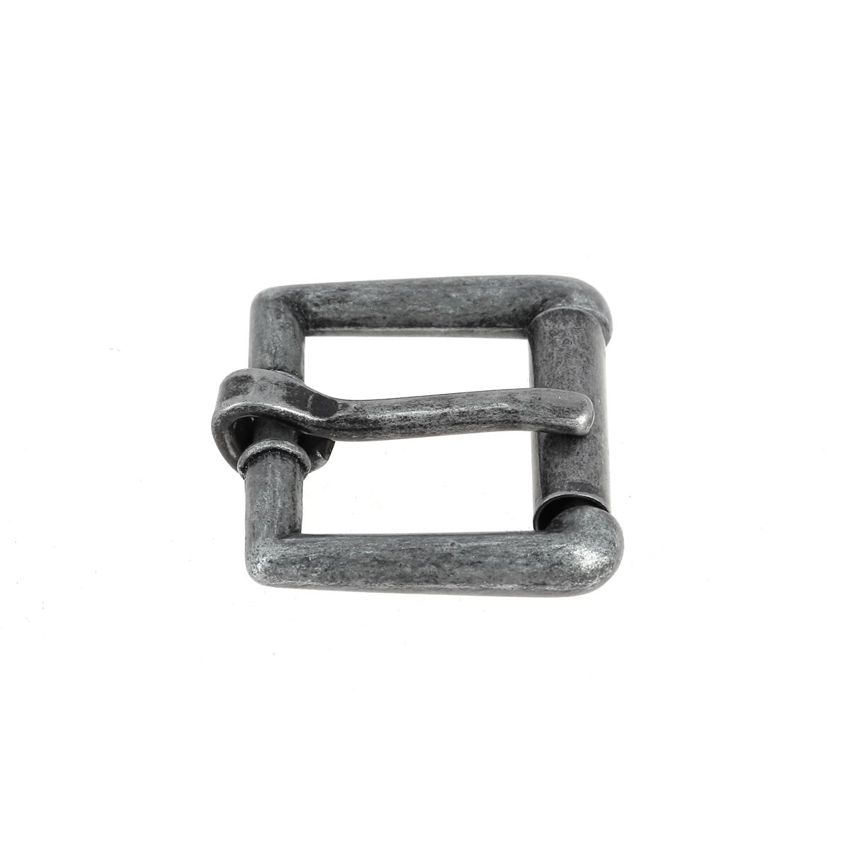 Boucle à rouleau YOU - ARGENT VIEILLI - 16 mm - Tandy Leather
