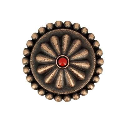 Concho GENEVRIER - 25 mm - Vieux cuivre