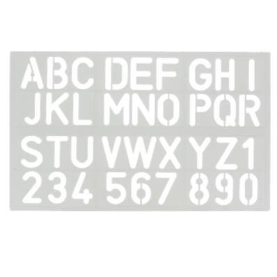 Trace-lettres - Majuscules et chiffres - Hauteur 30 mm