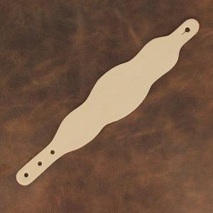 Découpe pour BRACELET en cuir naturel à personnaliser - 3 VAGUES