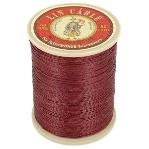 Bobine fil de lin au chinois câblé glacé - 332 - BRIQUE 425