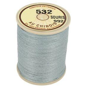 Bobine fil de lin au chinois câblé glacé - 532 - GRIS SOURIS 992