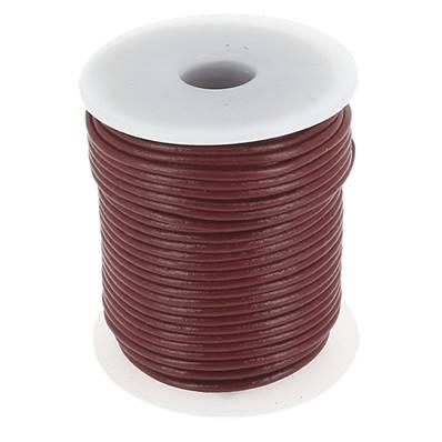 Lacet en cuir rond - diam 2 mm - BORDEAUX
