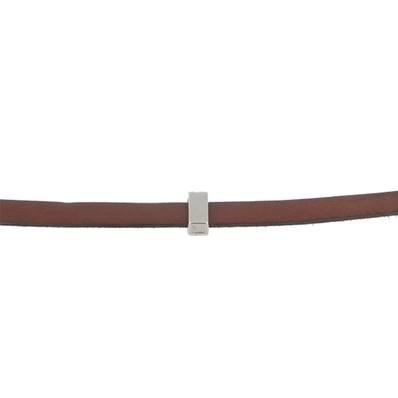 Coulissant CLASSIQUE PLAT - Lanière de 10 mm - ARGENT VIEILLI