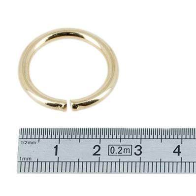 Anneau rond - acier DORE - 30 mm - Fil 4 mm