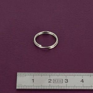 Anneau rond de Porte-Clés - NICKELE - diam 14 mm