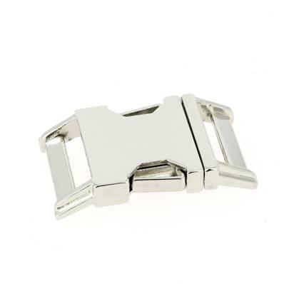 Fermeture clip - NICKELE - 25 mm