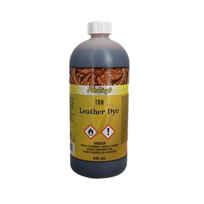Teinture pour cuir FIEBING'S Leather dye - FAUVE - TAN - bidon de 946ml