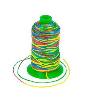 Bobine de 70 m de fil polyester tressé et poissé - diam 1 mm - MULTICOLORE