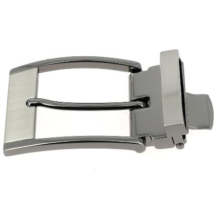 Boucle de ceinture à griffe RAY - CANON DE FUSIL SATINÉ - 35 mm