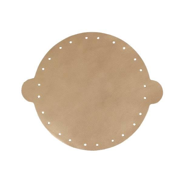 Cuir déjà coupé pour faire une bourse en cuir BRONZE - Diamètre 20 cm