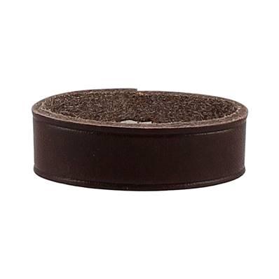 Passant de ceinture en cuir végétal MARRON CHOCOLAT - 34 mm